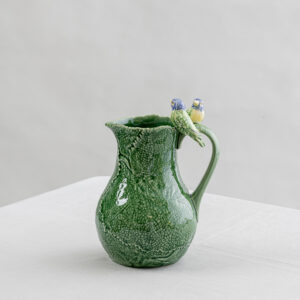 Bordallo Green pitcher with birds - Signature Editions