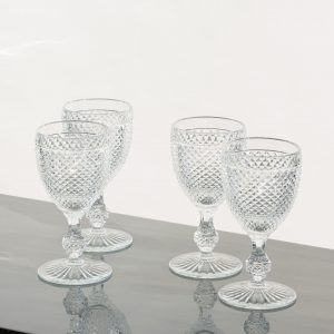 Clear diamond wine glasses set of 4 clear - Signature Editions