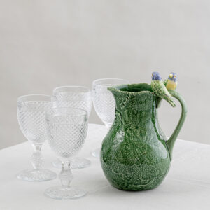 Green pitcher and glass set - clear - Signature Editions